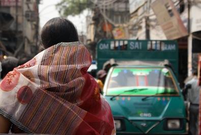 Woman on Indian street