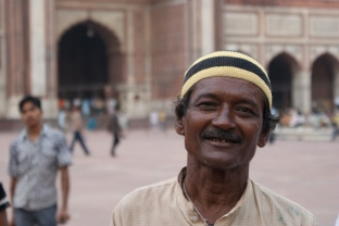Man at mosque in India