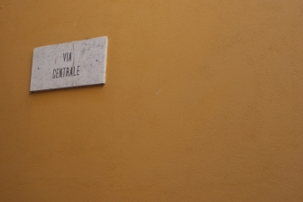 Street sign in Italy