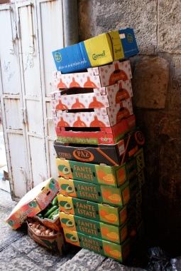 Cardboard boxes in Jerusalem