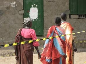Voters in Sudan